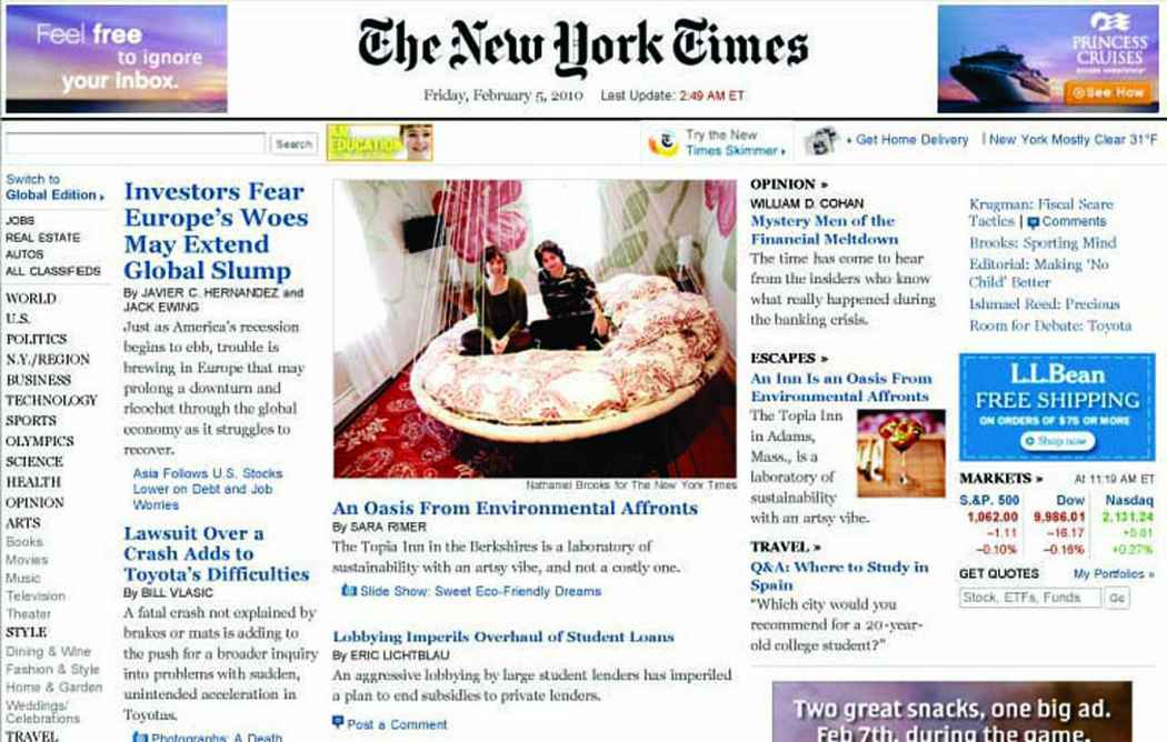 Floating Bed as seen on the cover of the New York Times